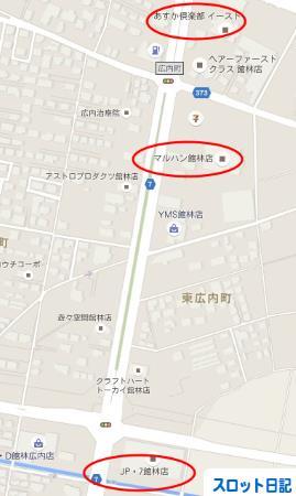 パチンコ店地図