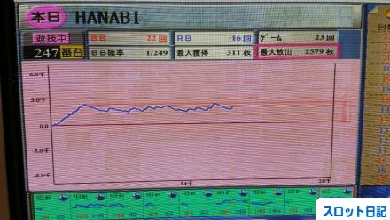ハナビスランプグラフ