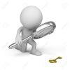 32061363-persona-3d-con-una-gran-lupa-mirando-la-llave-de-oro-imagen-3d-fondo-blanco-aislado-foto-de-archivo